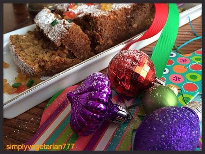 Holiday fruit cake, alcohol-free