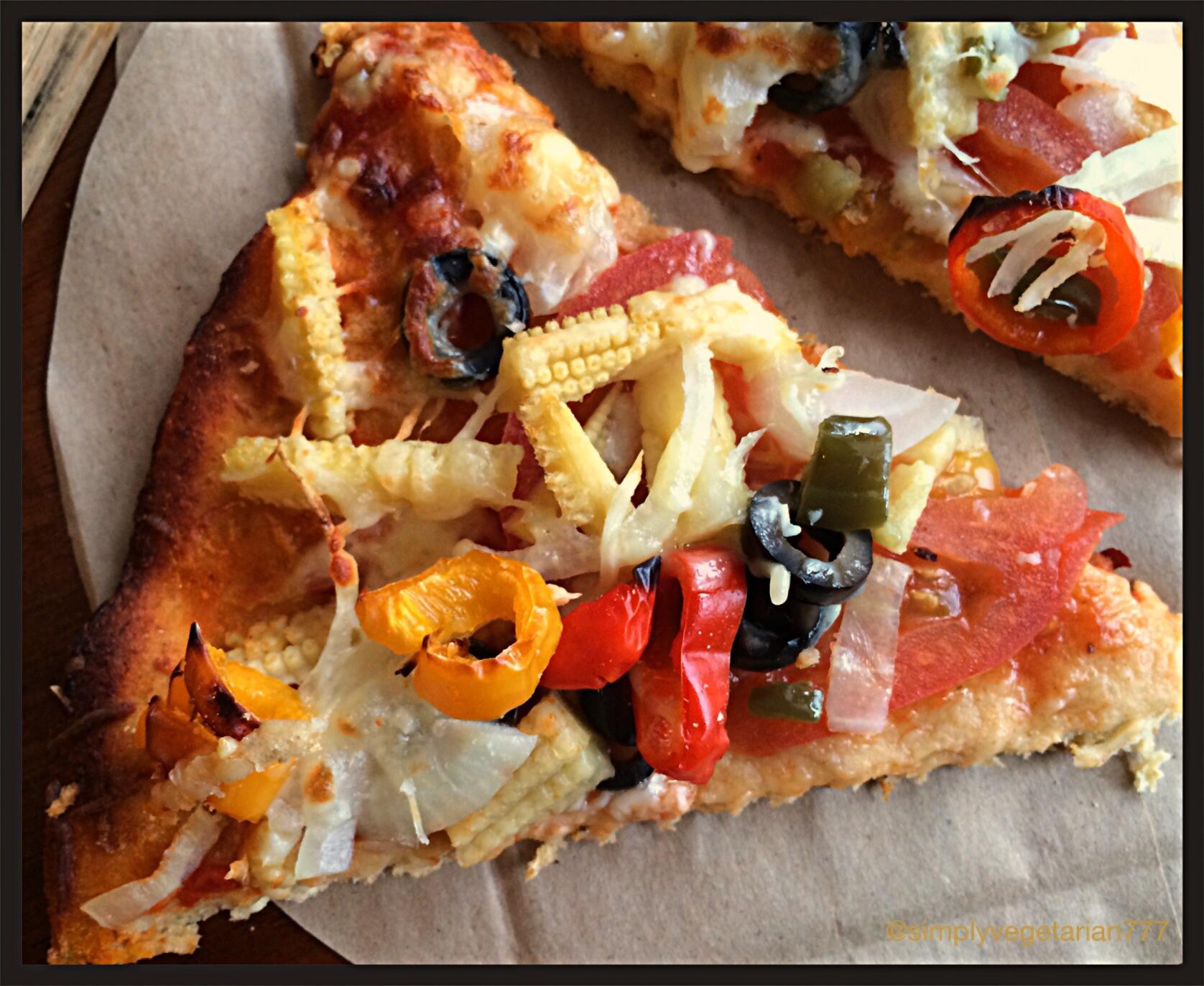 Baby Corn & Jalapeno WW Pizza