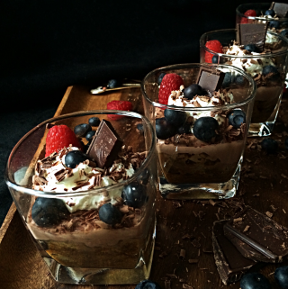 Mock Chocolate Tiramisu, Eggless