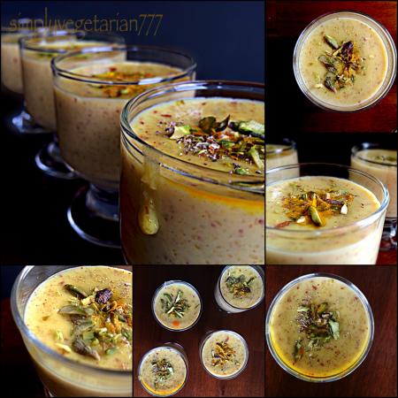 Zafrani Jei Badaam ki Kheer / Saffron Oats Almonds Porridge