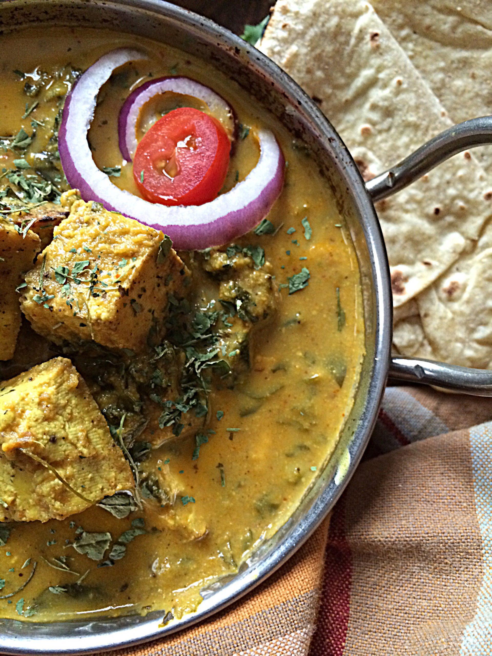 Methi Paneer in Zero Oil Curry