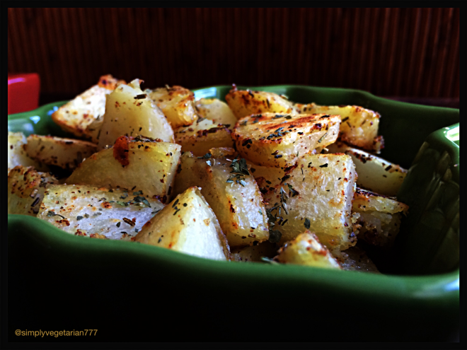 Pan Fried Rosemary & Garlic Potatoes