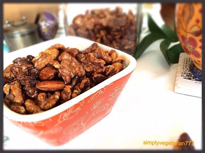 Honey-Chili-Lemon Roasted Almonds & Walnuts