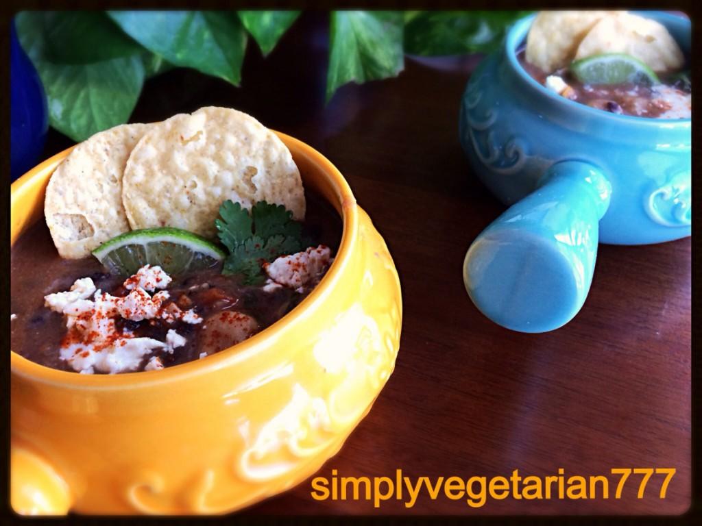 Black Bean Soup, Tex-Mex Style