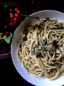 Spaghetti in Mushroom Sauce