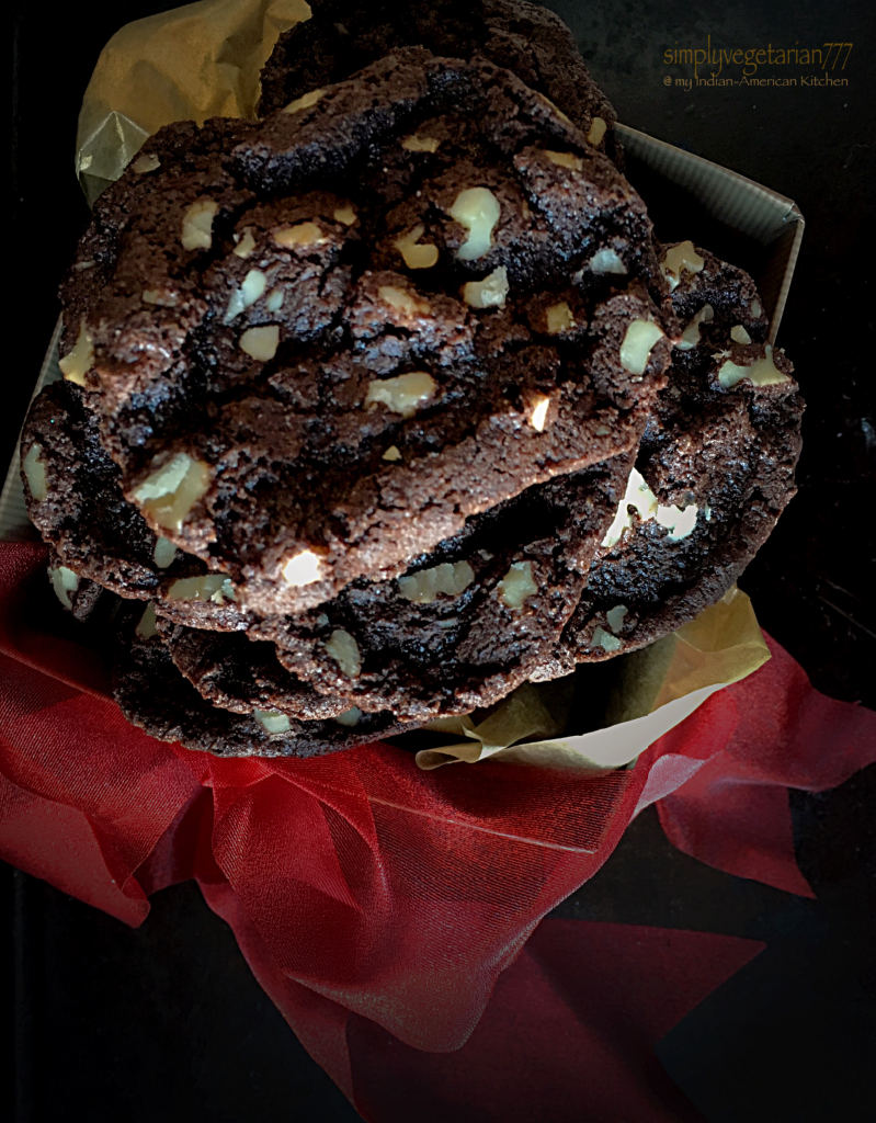 Chocolate Walnut Crisp Biscuits