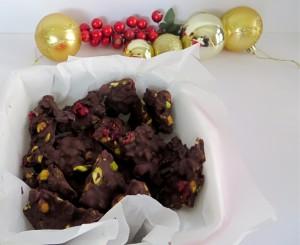 Pistachio Cranberry Dark Chocolate Bark by Loretta
