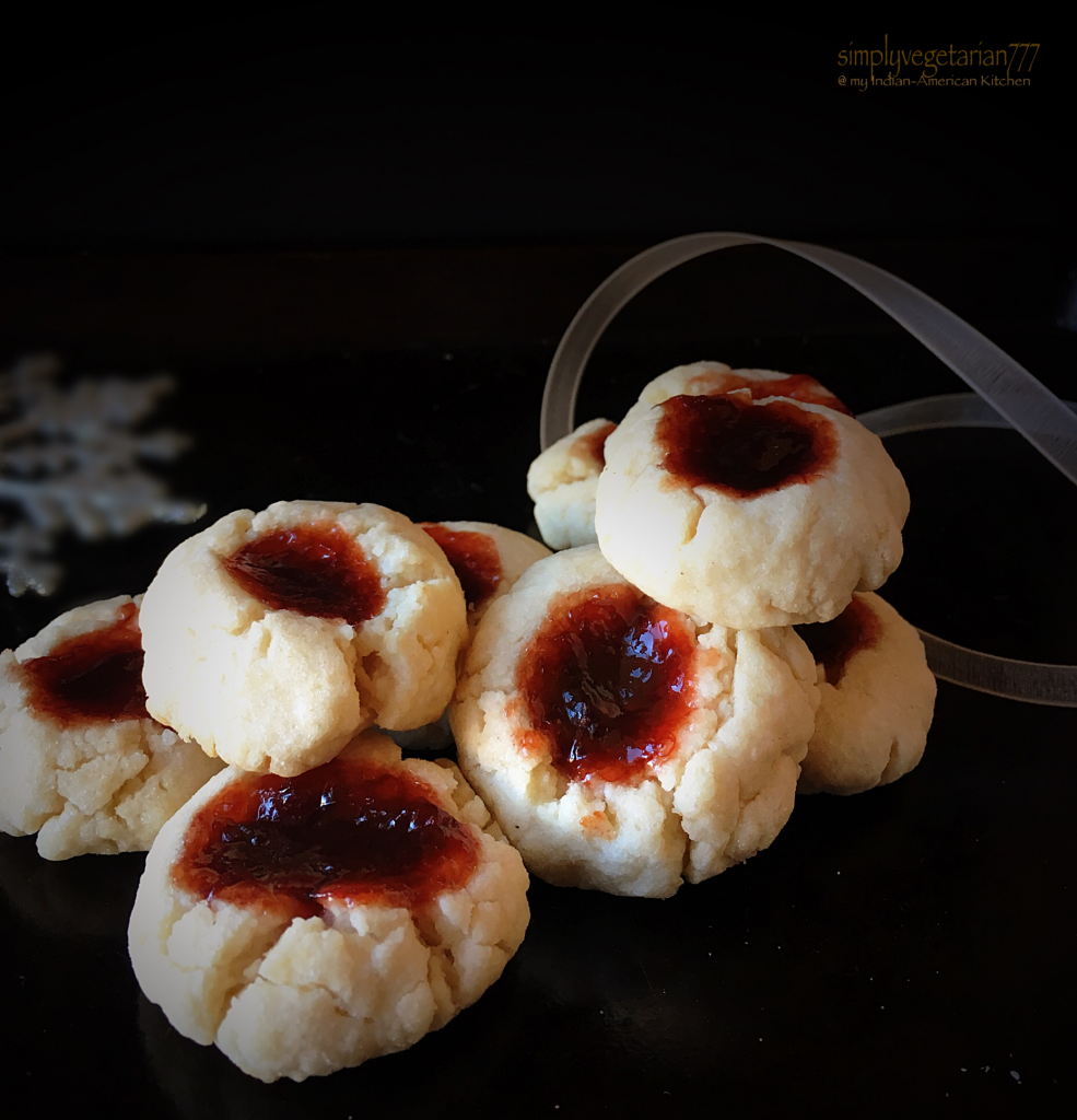 Eggless Jelly Thumbprint Cookies