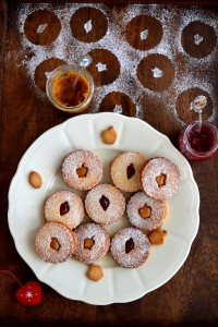 Linzer Cookies by Naina
