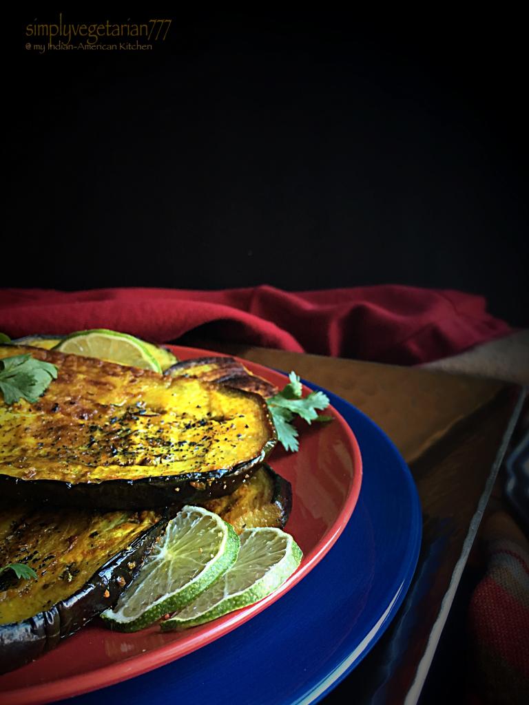 Curried Eggplant Steaks