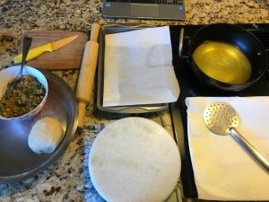 Setting the counter for Samosa making & frying