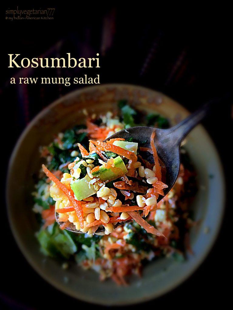 Kosumbari, a raw mung salad