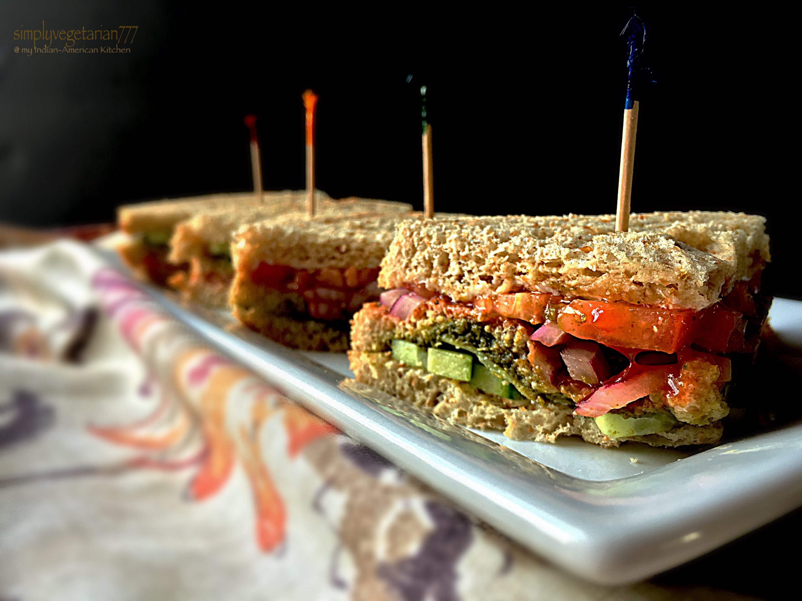 Vegetable Cocktail Sandwiches