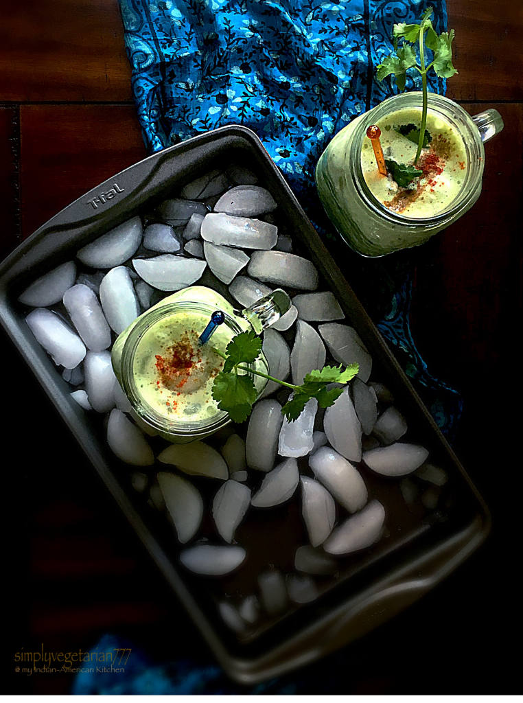 Cucumber Cilantro Yogurt Smoothie