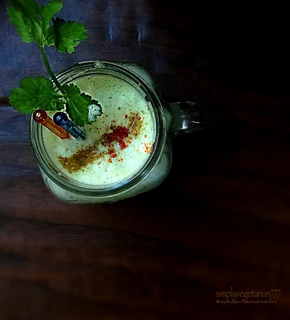 Cucumber Cilantro Yogurt Smoothie