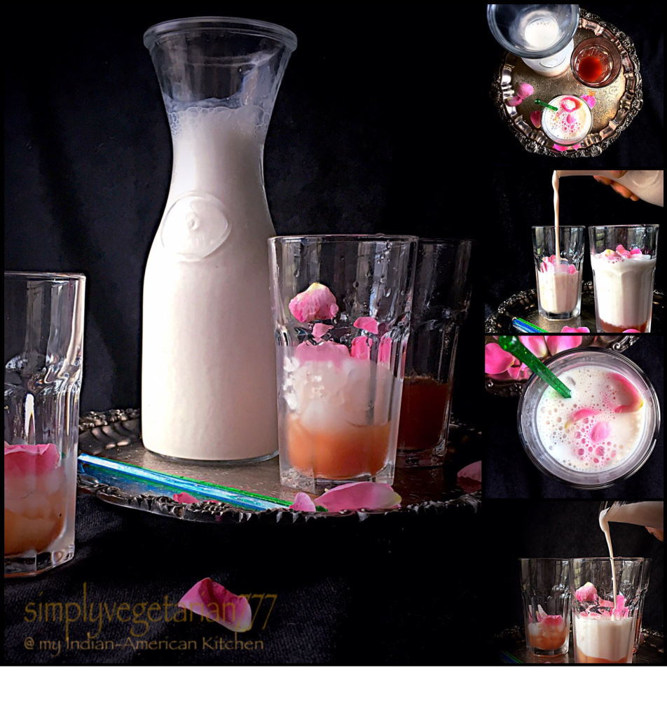 Rose Lassi & Simple Rose Syrup Recipe