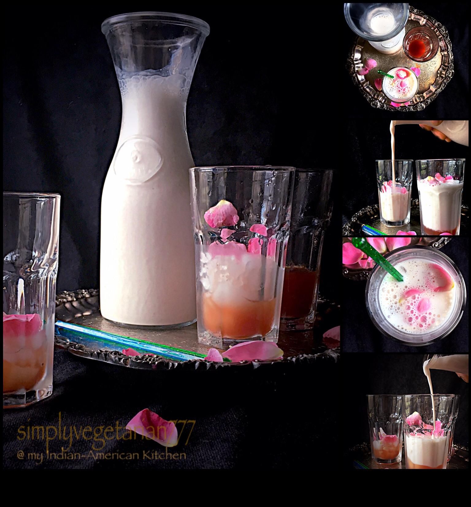 Rose Lassi & Simple Rose Syrup Recipe