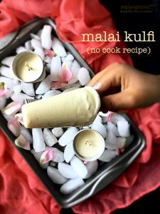 Malai Kulfi -No cook & 5 ingredients recipe