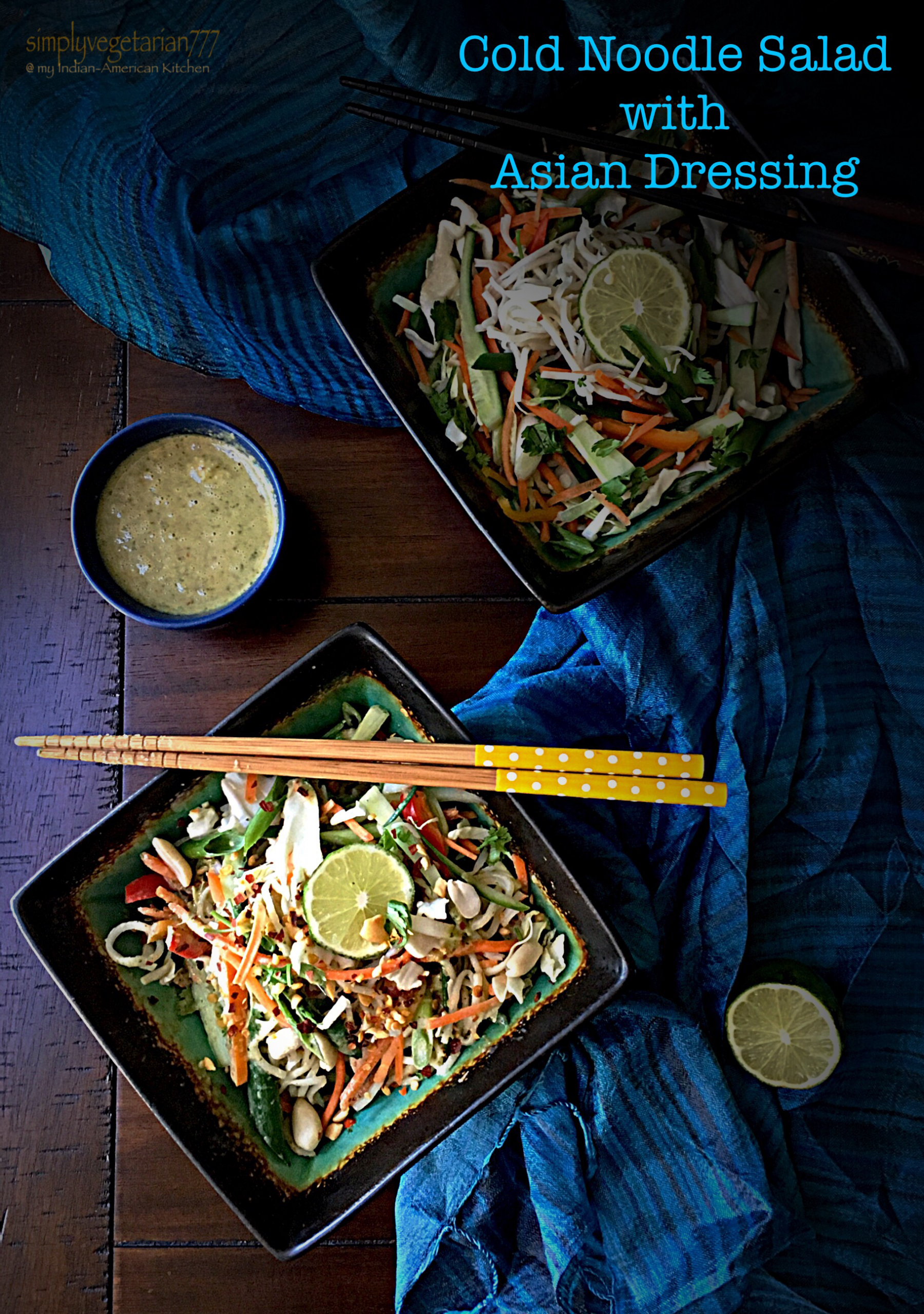 Cold Noodle Salad with Asian Dressing - Meatless Monday