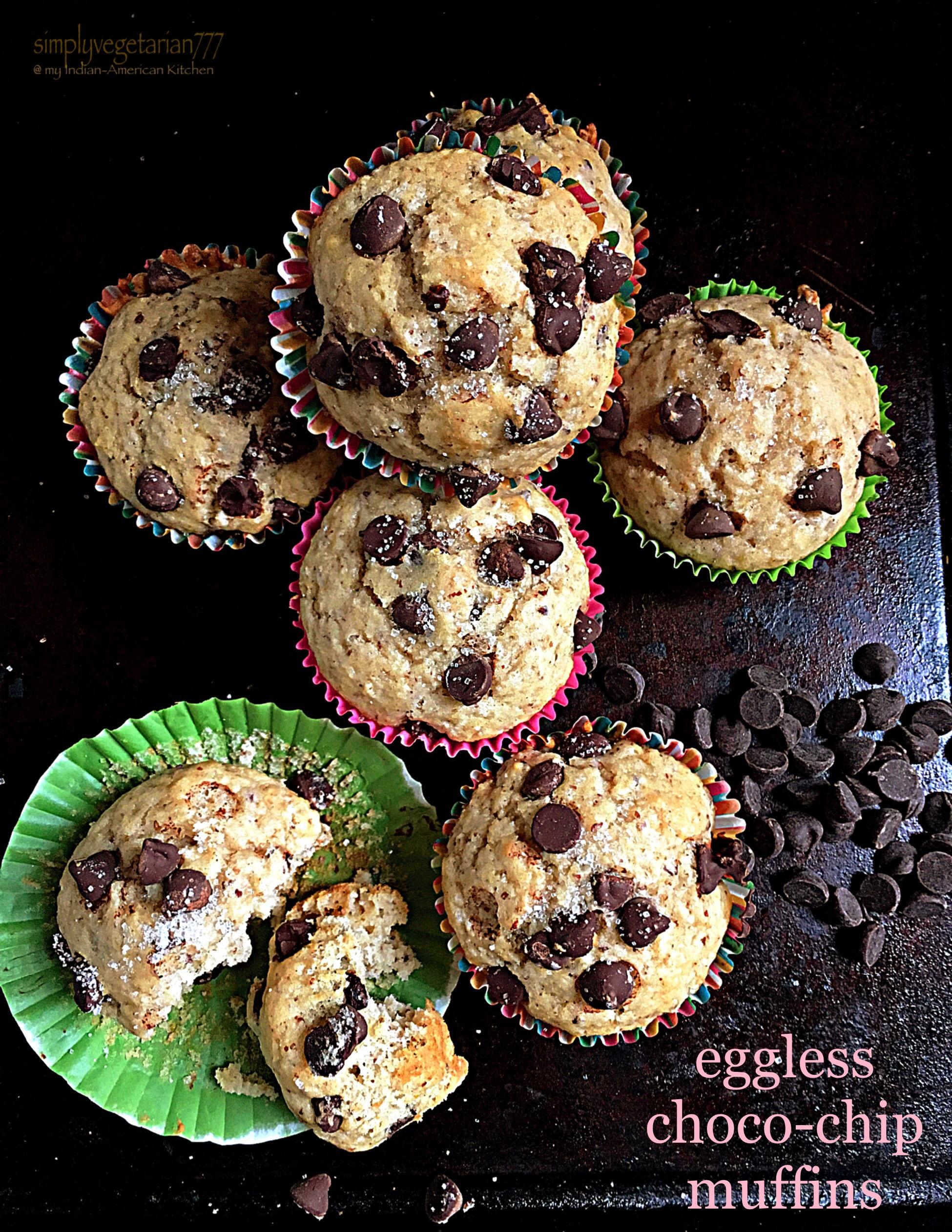 Eggless Choco-Chip Muffins