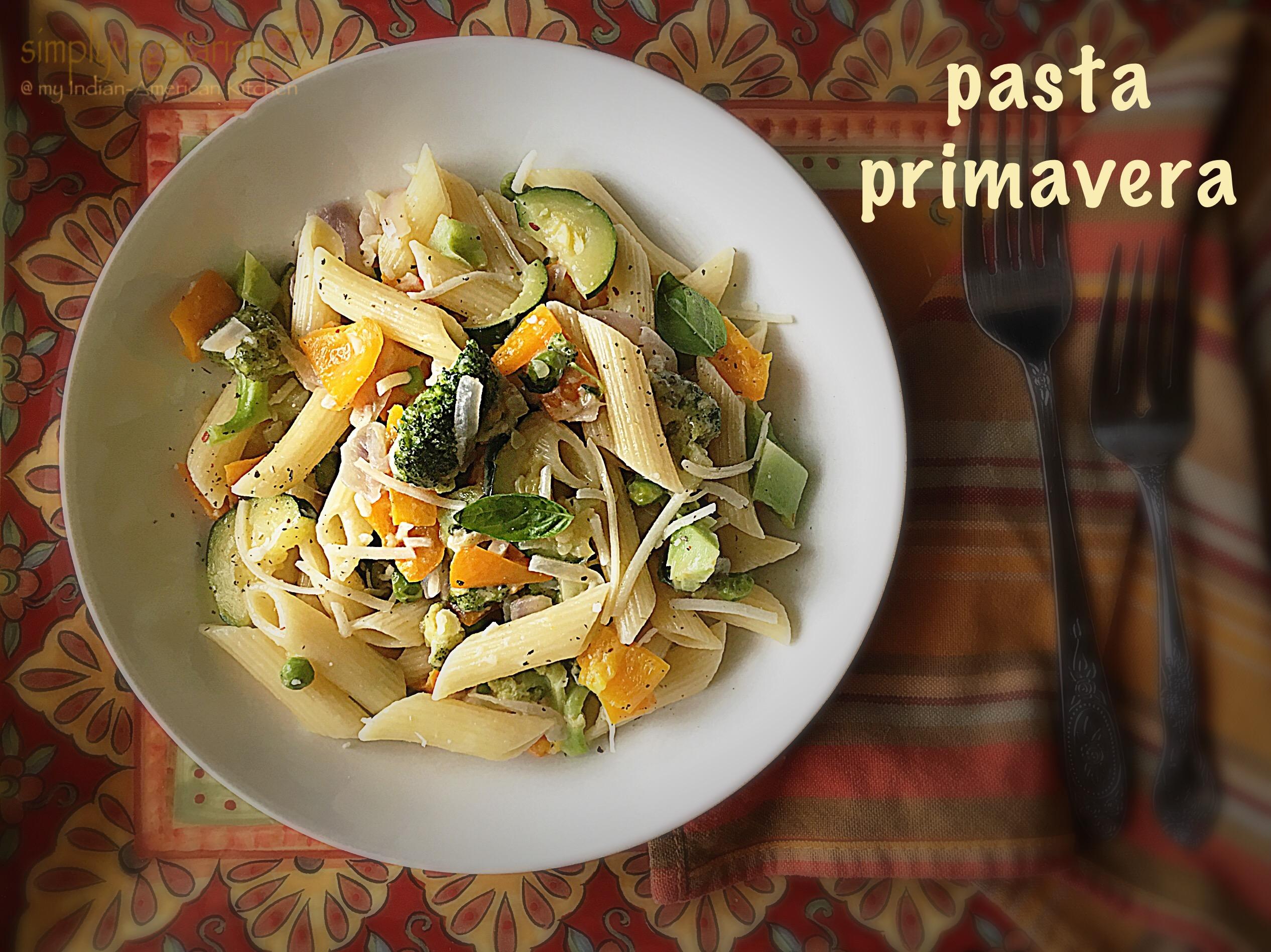 Pasta Primavera Easy Recipe