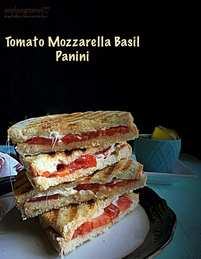 Tomato Mozzarella Basil Panini