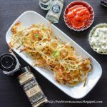 Baked Hash browns with roasted garlic