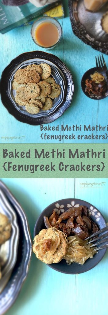 Baked Methi Mathri