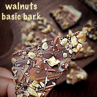 Chocolate Walnuts Basic Bark