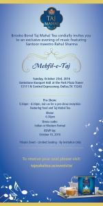 Invitation Courtesy - Brooke Bond Taj Mahal
