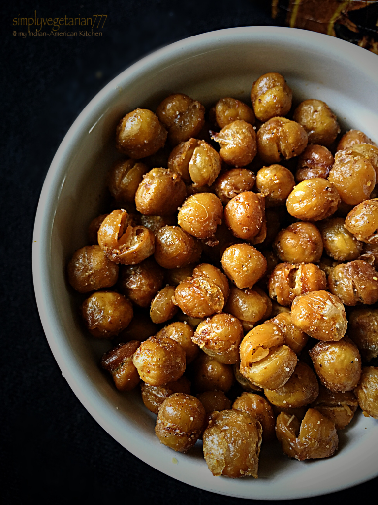 Chickpeas Masala {Spicy & Crispy + Oven Roasted}