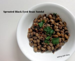 Sprouted Black eye Beans Sundal