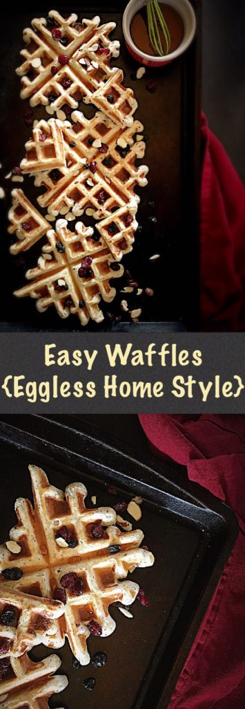 Easy Waffles {Eggless Home Style}