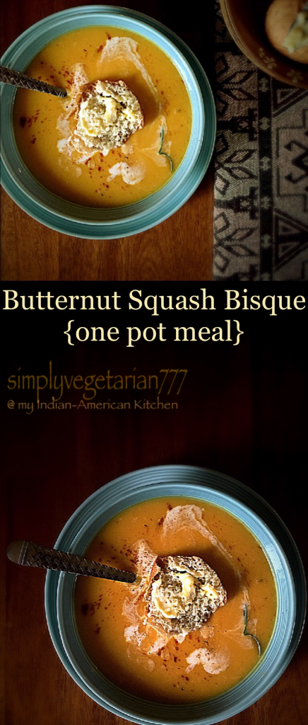 Butternut Squash {pumpkin} Bisque