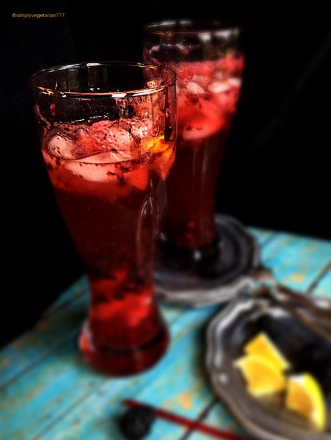 Blackberry Long Island Mocktail