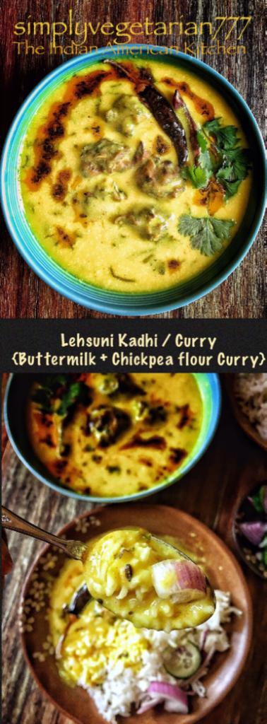 Lehsuni Kadhi {Curry made with Garlic Buttermilk Chickpea Flour}