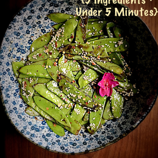 Spicy Snow Peas {5 Ingredients + Under 5 minutes}