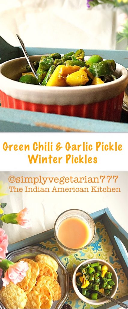 Green Chili & Garlic Pickle