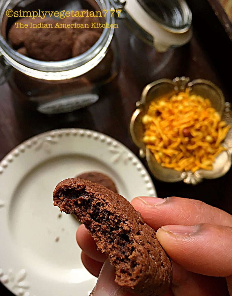 Chocolate Butter Cookies - Eggless & Easy