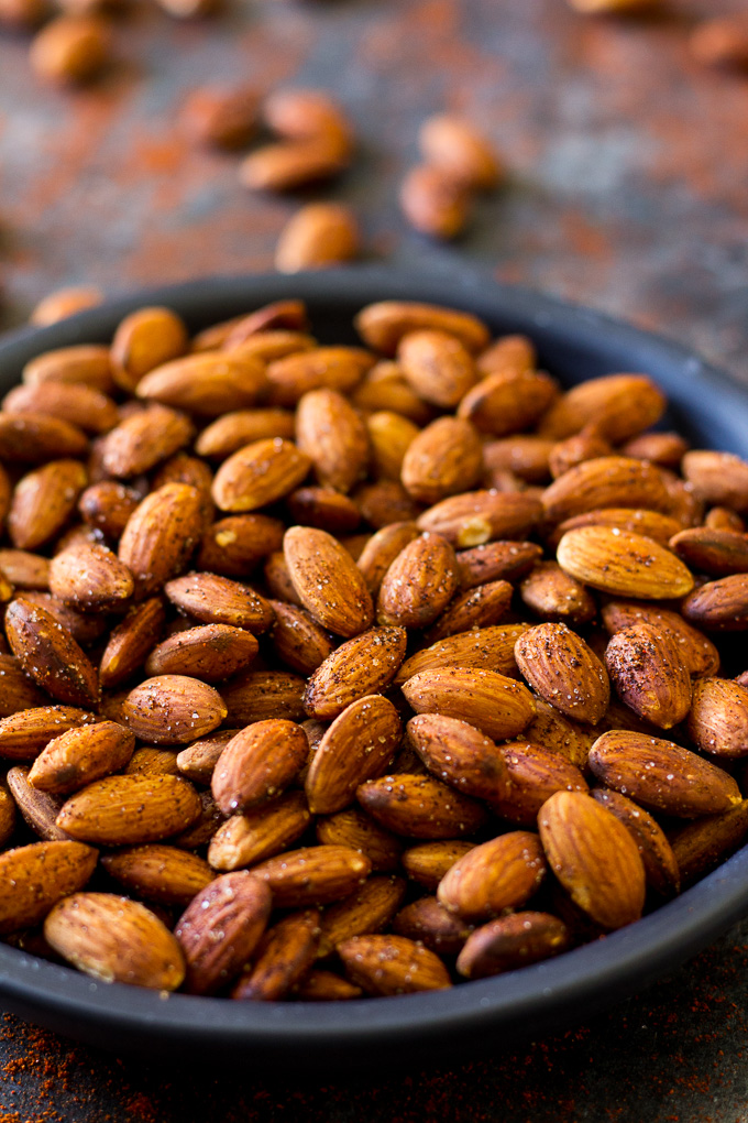 Chipotle Roasted Almonds (Paleo Vegan)