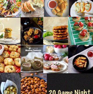 20 Game Night Vegetarian Appetizers