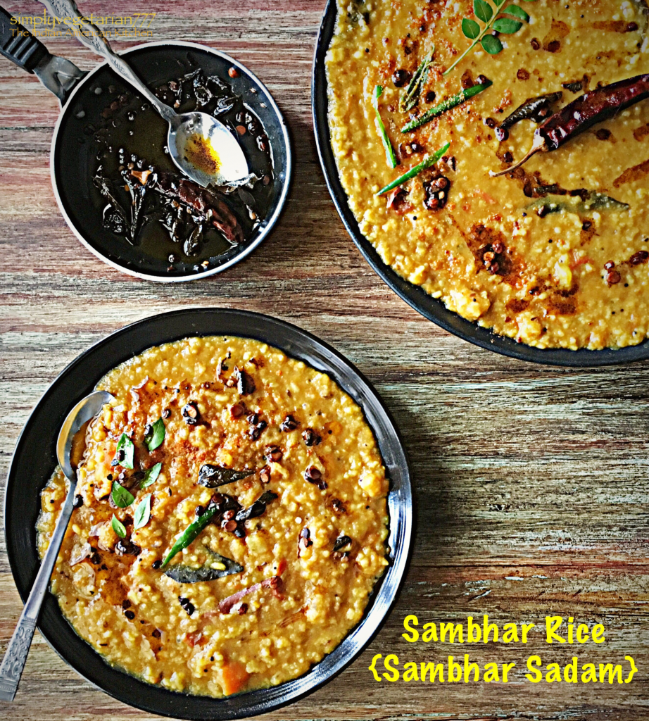 Sambhar Rice {Sambhar Sadam}
