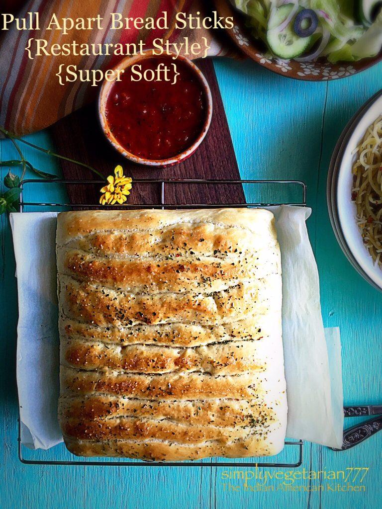 Pull Apart Bread Sticks {Restaurant Style & Super Soft}