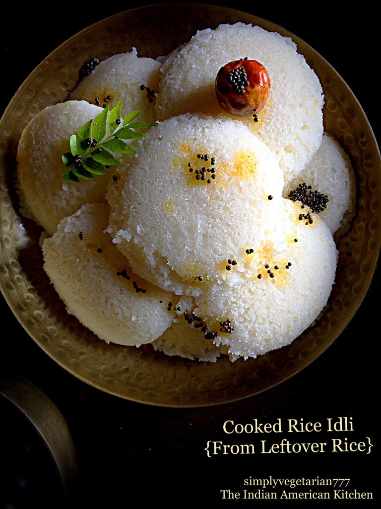 Cooked Rice Idli {From Leftover Rice}