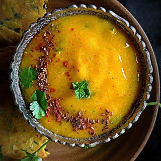 Ripe Mango Panna {No Cooking Cold Mango Curry}
