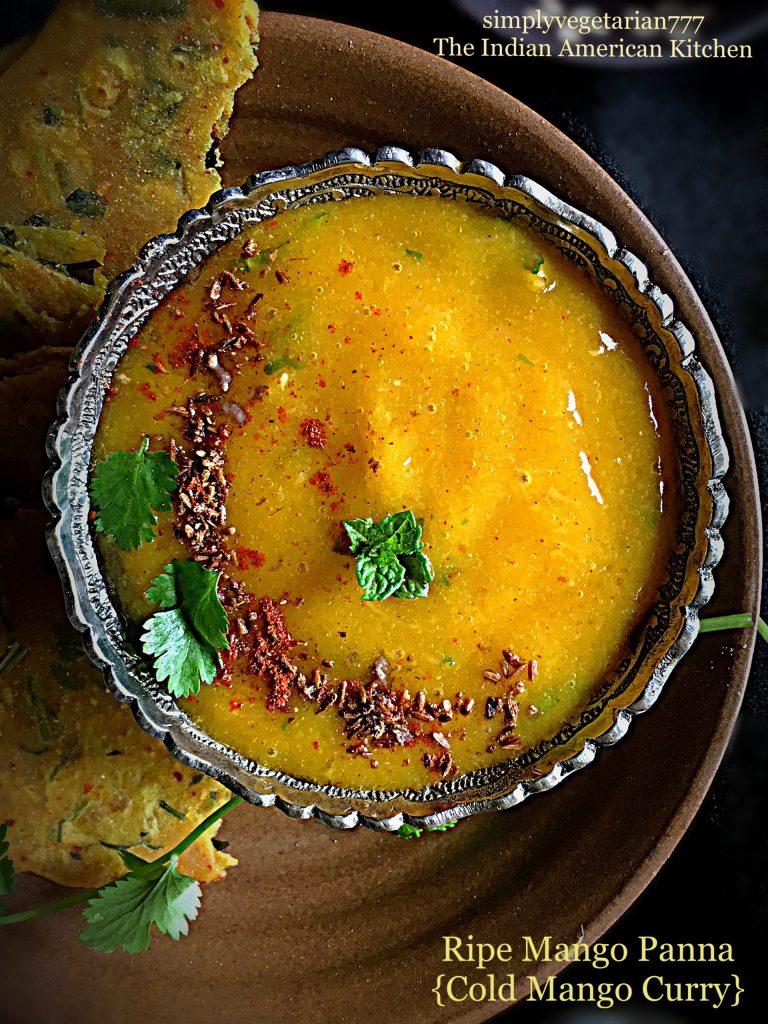 Ripe Mango Panna {No Cooking Cold Mango Curry}