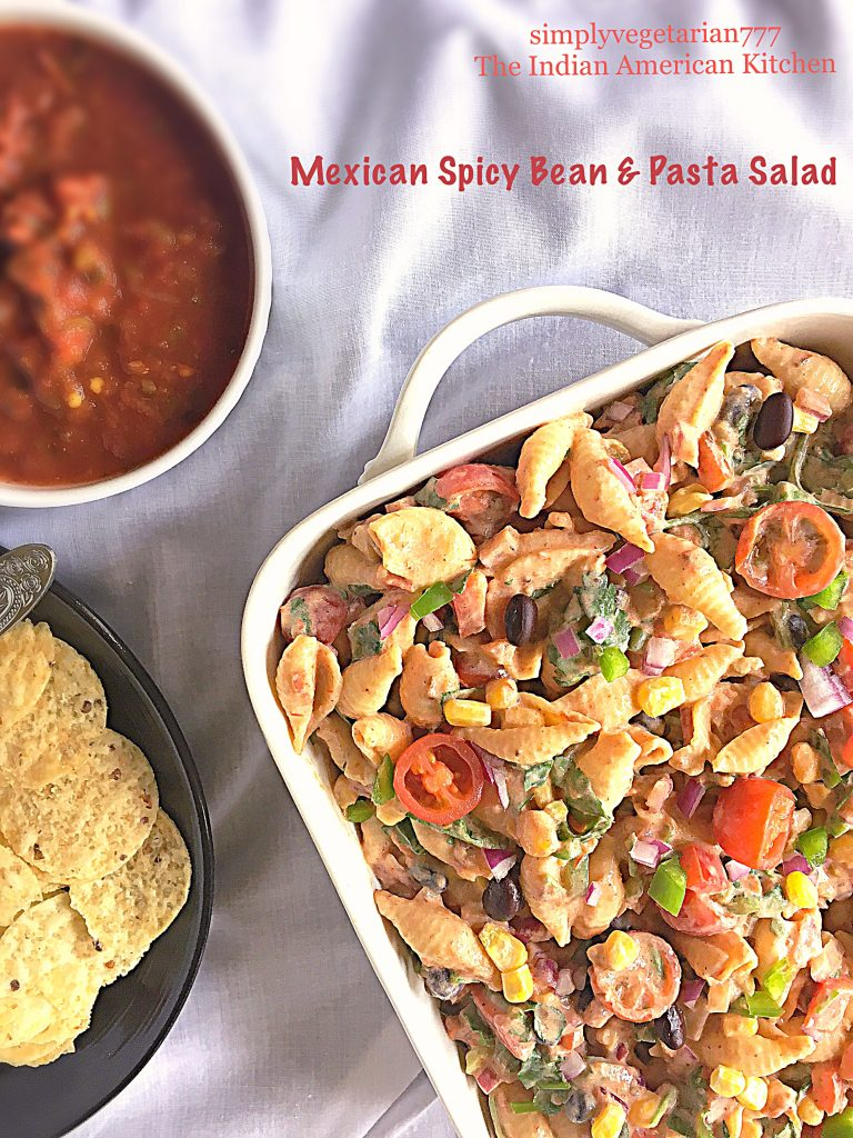 Mexican Spicy Bean & Pasta Salad