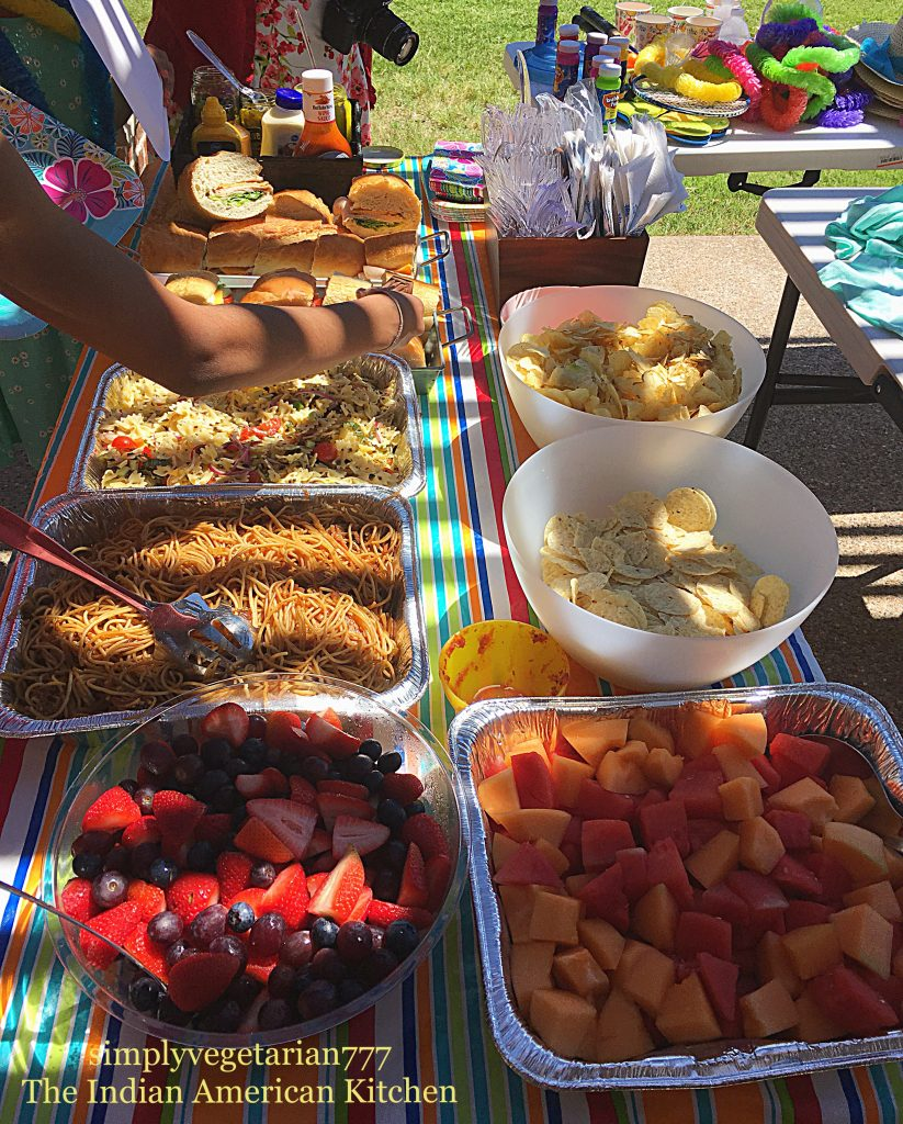 Vegetarian Buffet for Birthday Party