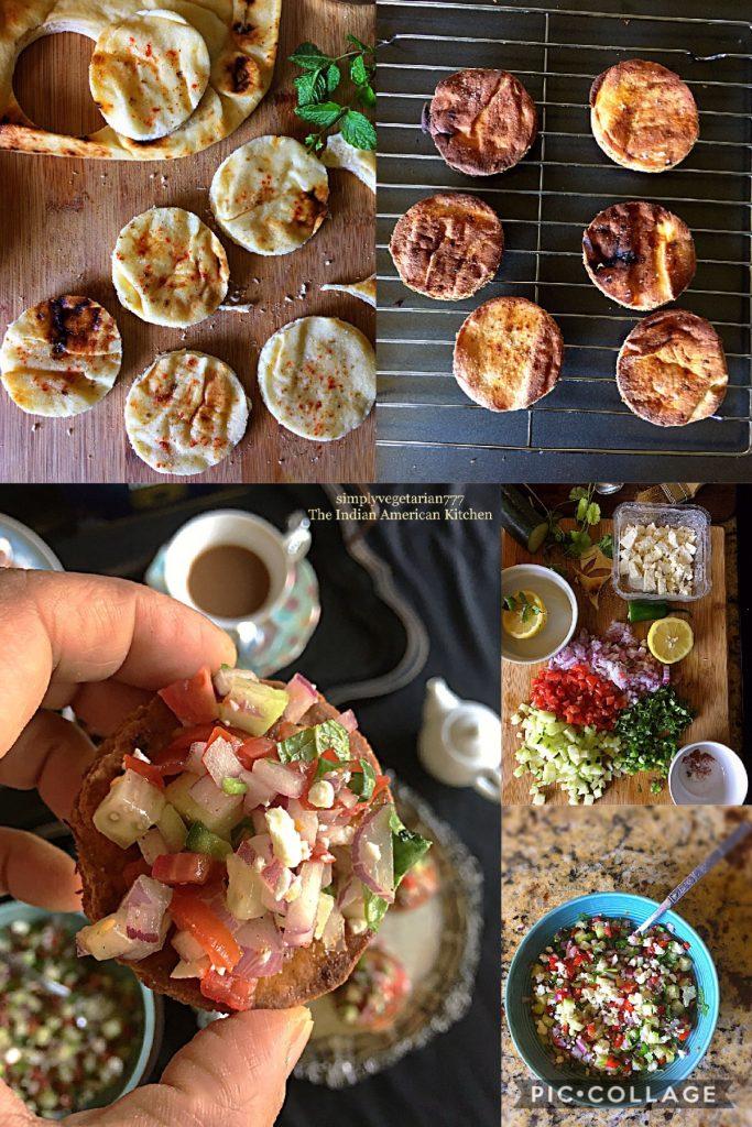 Masala Naan Canapés with Ginger flavored Brooke Bond Taj Mahal Tea