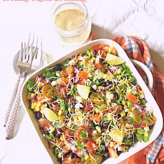 Mexican Fiesta Salad with Creamy Fajita Dressing